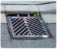 Paint Marks are left on Storm Drains after being Treated