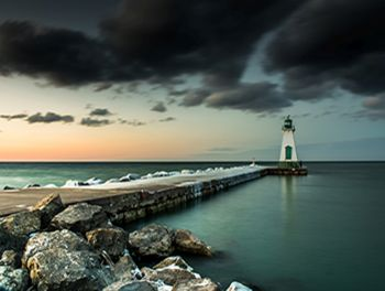 Port Lighthouse Sunset